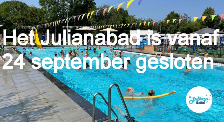 Sluiting zwembad seizoen 2021